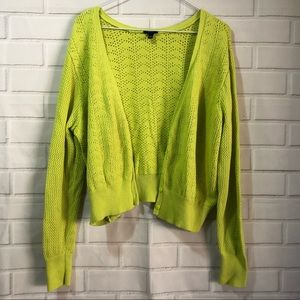 Torrid Neon Yellow Boyfriend Sweater Cardigan